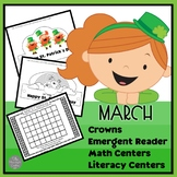 March Emergent Reader, Crowns and Center Fun
