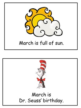 March Emergent Reader Flip Book