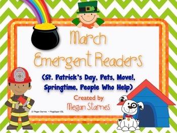 March Emergent Reader Mini-books (five readers)