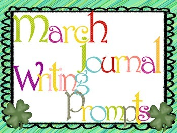 March Everyday Writing Journals Powerpoint