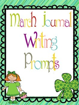 March Everyday Writing Journals Printable