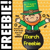 March FREEBIE ~ perfect for 1st-2nd grades and even some Kinders!