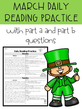 **REVISED** - March FSA PARCC Style Daily Reading Practice