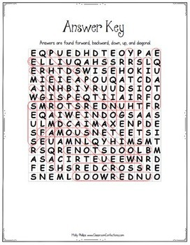 Spring: All About Spring: Reading and Word Search Activity