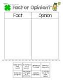 March Fact & Opinion Cut & Paste Sort