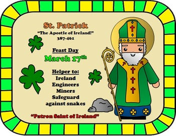 March Feast Day Catholic Saint Poster - Saint Patrick