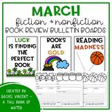 March Fiction & Nonfiction Book Review Bulletin Board Sets