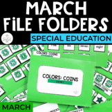 March File Folders for Special Education