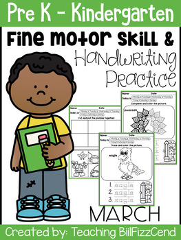 March Fine Motor Skill and Handwriting Practice