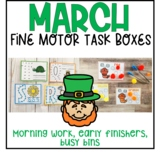 March Fine Motor Task Boxes