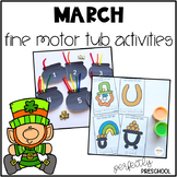 March Fine Motor Tub Activities