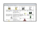 March First Grade Homework Calendar + Graphic Organizers (editable)