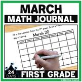 March First Grade Math Journal