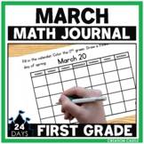 First Grade Math Journal for March