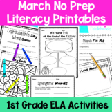 March First Grade No Prep Literacy Packet