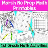 March First Grade No Prep Math Packet