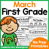 March First Grade Printables