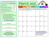 March Fitness Calendar 2018