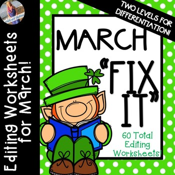 """March """"Fix It"""" Editing Work {Two Levels}"""