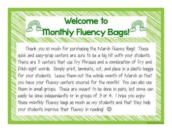 March Fluency Bags