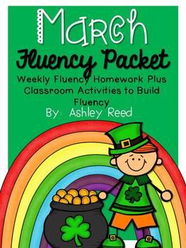 March Fluency Homework Practice Packet