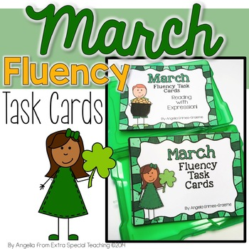March Fluency Practice Task Cards