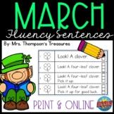 March Fluency Strips