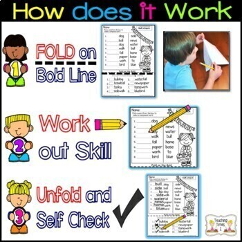 March FOLD ON THE BOLD (2nd Grade) Self Checking Math and Literacy Packet