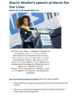 March For Our Lives Speech Analysis and Discussion: Naomi Wadler
