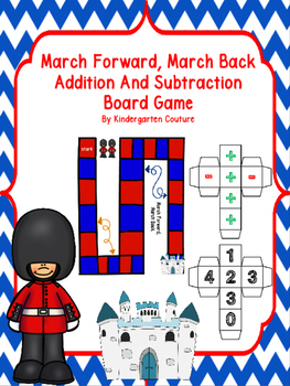 March Forward, March Back Addition and Subtraction Board Game -Freebie