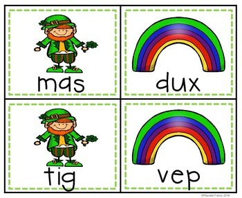 March Freebie- St. Patrick's Day Nonsense Word Game Cards