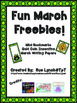 March Fun Freebies~Mini Bookmarks, Gold Coins and Writing Papers