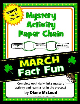 March Fun: Mystery Activity Paper Chain with BONUS Clip Art