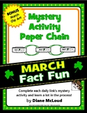 March Fact Fun: Mystery Activity Paper Chain with BONUS Clip Art