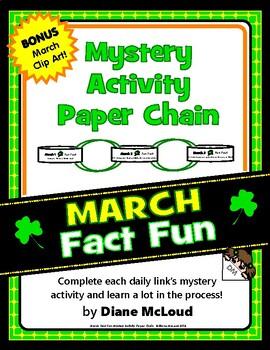 March Fun: Mystery Activity Paper Chain with BONUS Clip Art