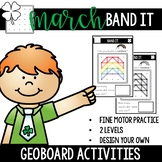 March Geoboard Fine Motor Tub Activities- Band It