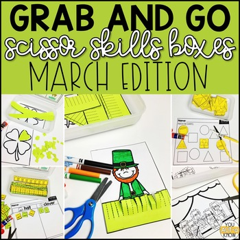 March Grab and Go Scissor Skills Activities