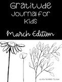 March Gratitude Journal for Kids
