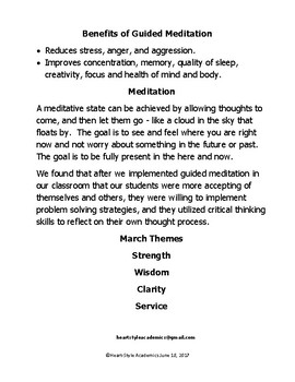 March Guided Meditation Bundle