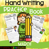 March Hand Writing Practice Book