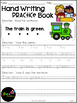 March Hand Writing Practice Book Freebies