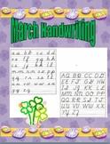 March Handwriting
