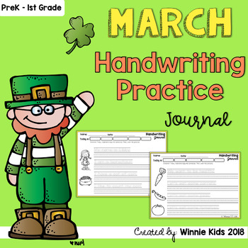 March Handwriting Practice Journal