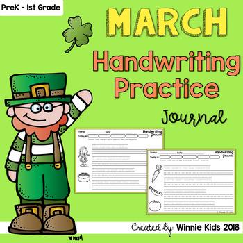 March Handwriting Practice Journal