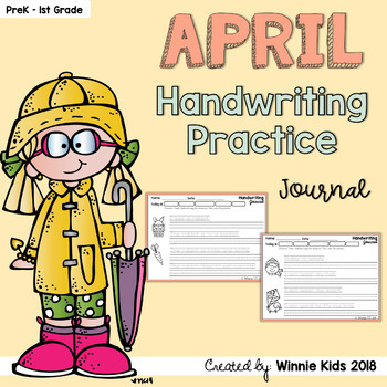 April Handwriting Practice Journal