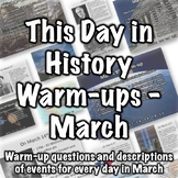 This Day in History Warm-ups for March