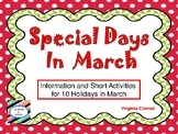 March Holiday Fun Sheets
