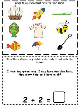 March Kindergarten Homework