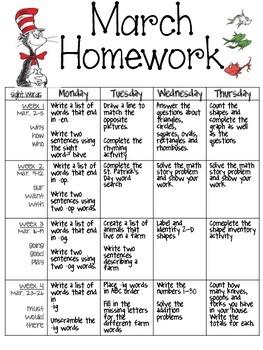 March Homework 2015