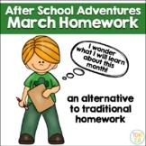 March Homework After School Adventures